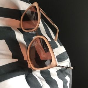 Accessories - Pink Thick Cat Eye Sun Glasses